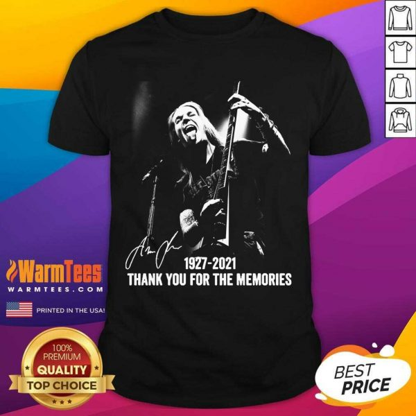 Alexi Laiho 1927 2021 Thank You For The Memories Signature Shirt