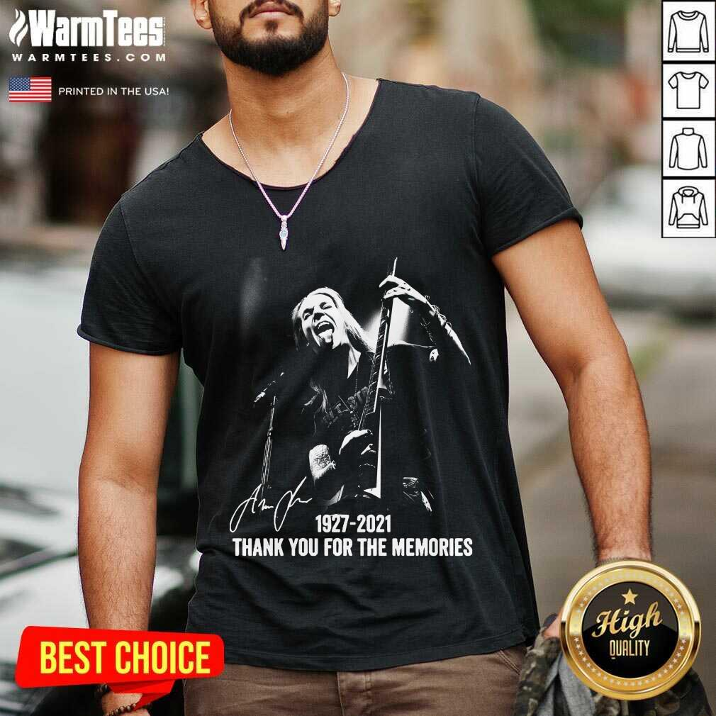 Alexi Laiho 1927 2021 Thank You For The Memories Signature V-neck