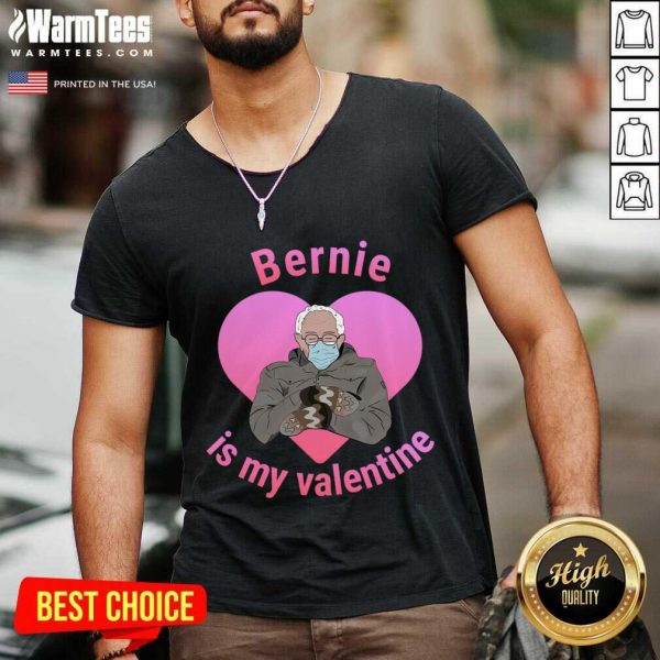 Bernie Sanders Is My Valentine. Cute Mittens V-neck