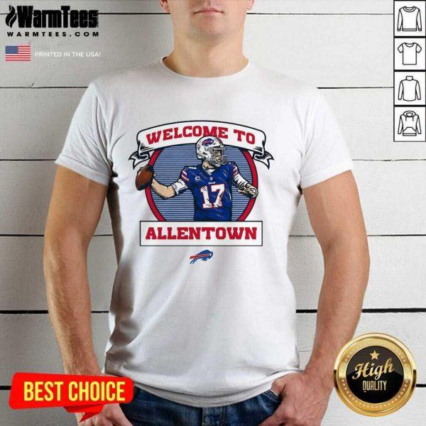 Buffalo Bills Josh Allen Royal Welcome To Allentown Shirt