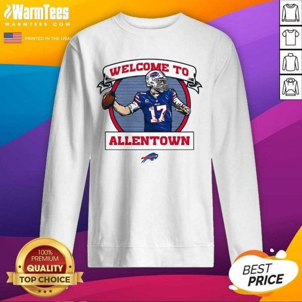 Buffalo Bills Josh Allen Royal Welcome To Allentown SweatShirt