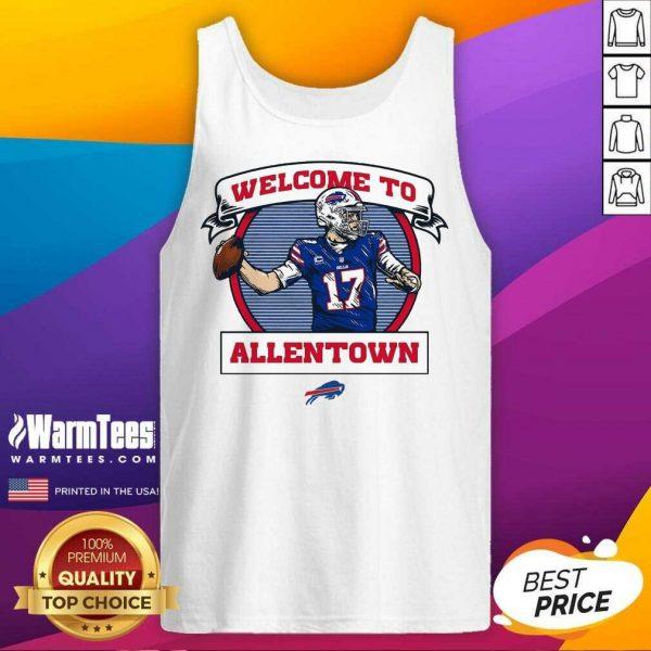 Buffalo Bills Josh Allen Royal Welcome To Allentown Tank Top