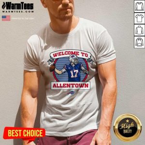 Buffalo Bills Josh Allen Royal Welcome To Allentown V-neck
