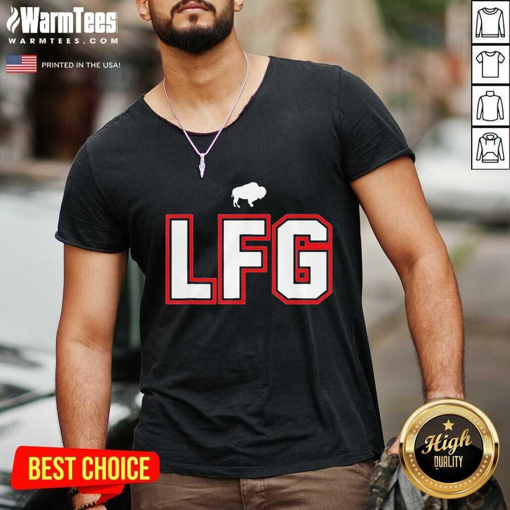 LFG – Lets F-ing Go Buffalo NY Football Fan Team Colors Wny V-neck
