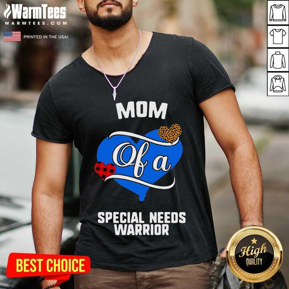 Mom Of A Special Needs Warrior Heart V-neck