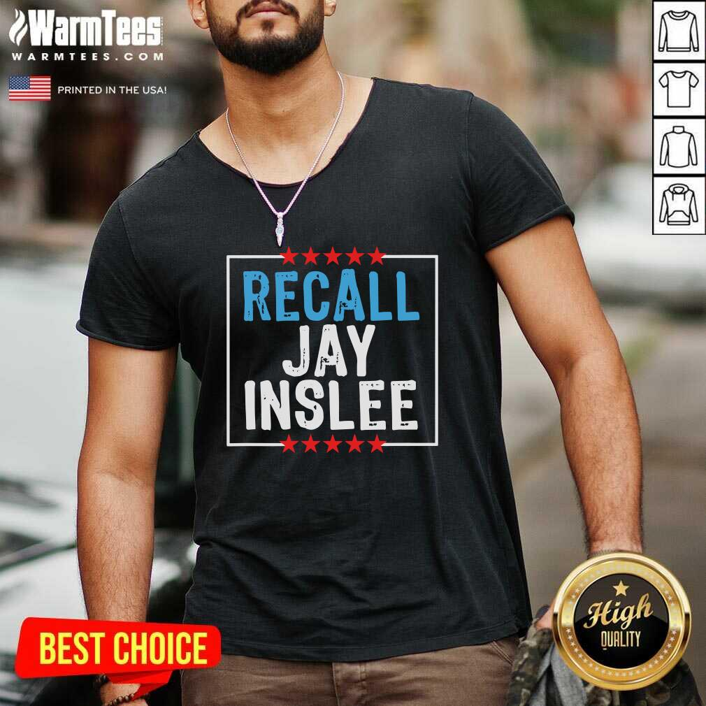 Recall Jay Inslee Stars Election V-neck - Design By Warmtees.com