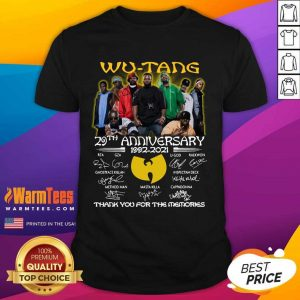 The Wu-Tang 29th Anniversary 1992 2021 Signatures Thank Shirt