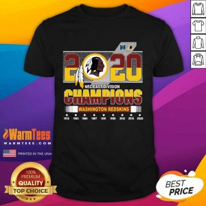2020 NFC East Division Champions Washington Redskins Shirt
