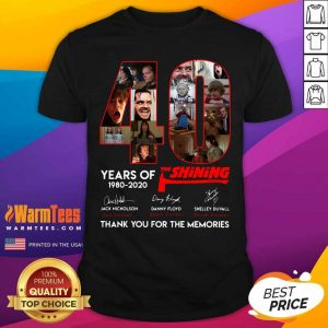 40 Years Of The Shining Signatures Thank You For The Memories Shirt - Design By Warmtees.com