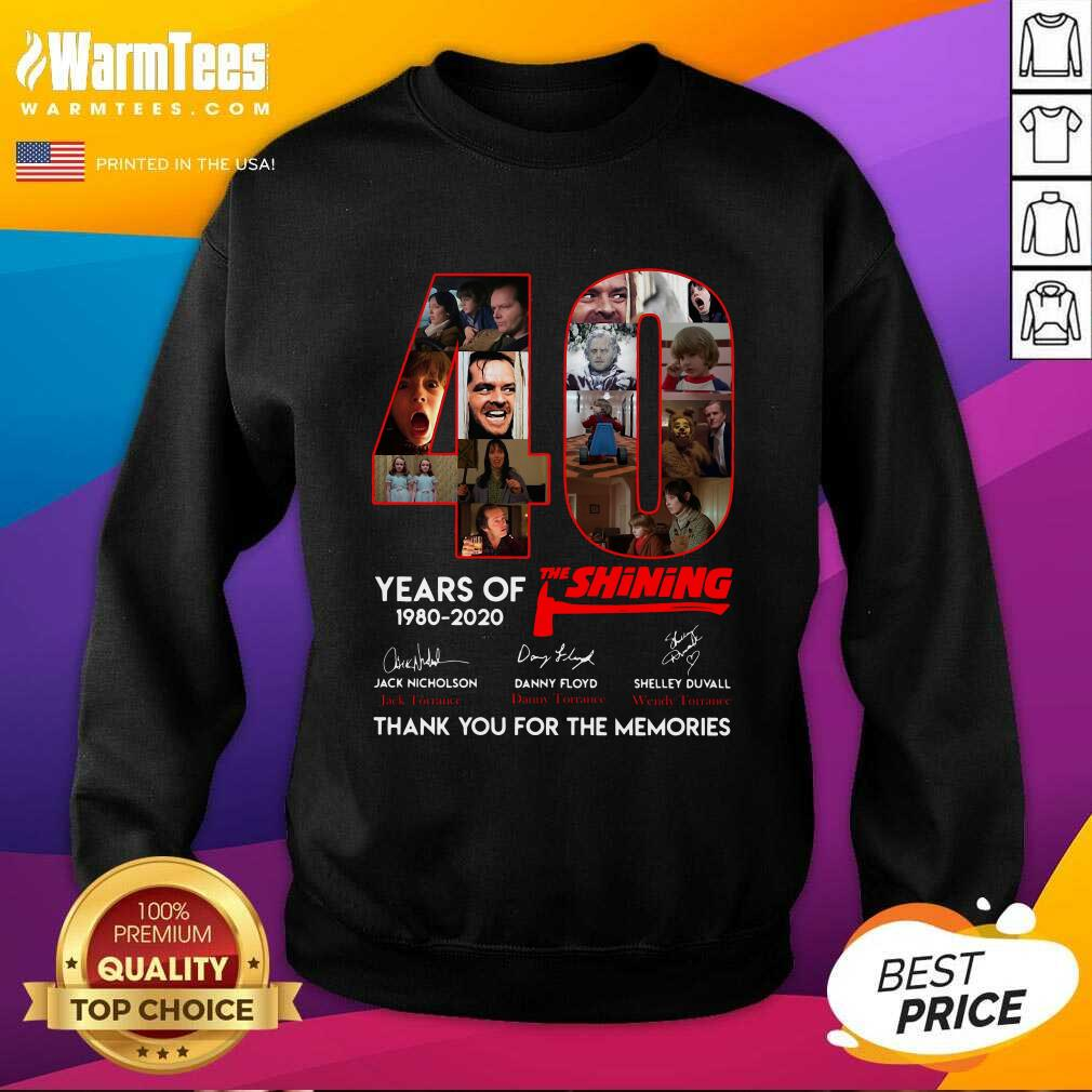 40 Years Of The Shining Signatures Thank You For The Memories SweatShirt  - Design By Warmtees.com