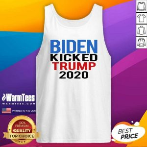Biden Harris Kicked Trump 2020 President Joe Wins Tank Top - Design By Warmtees.com