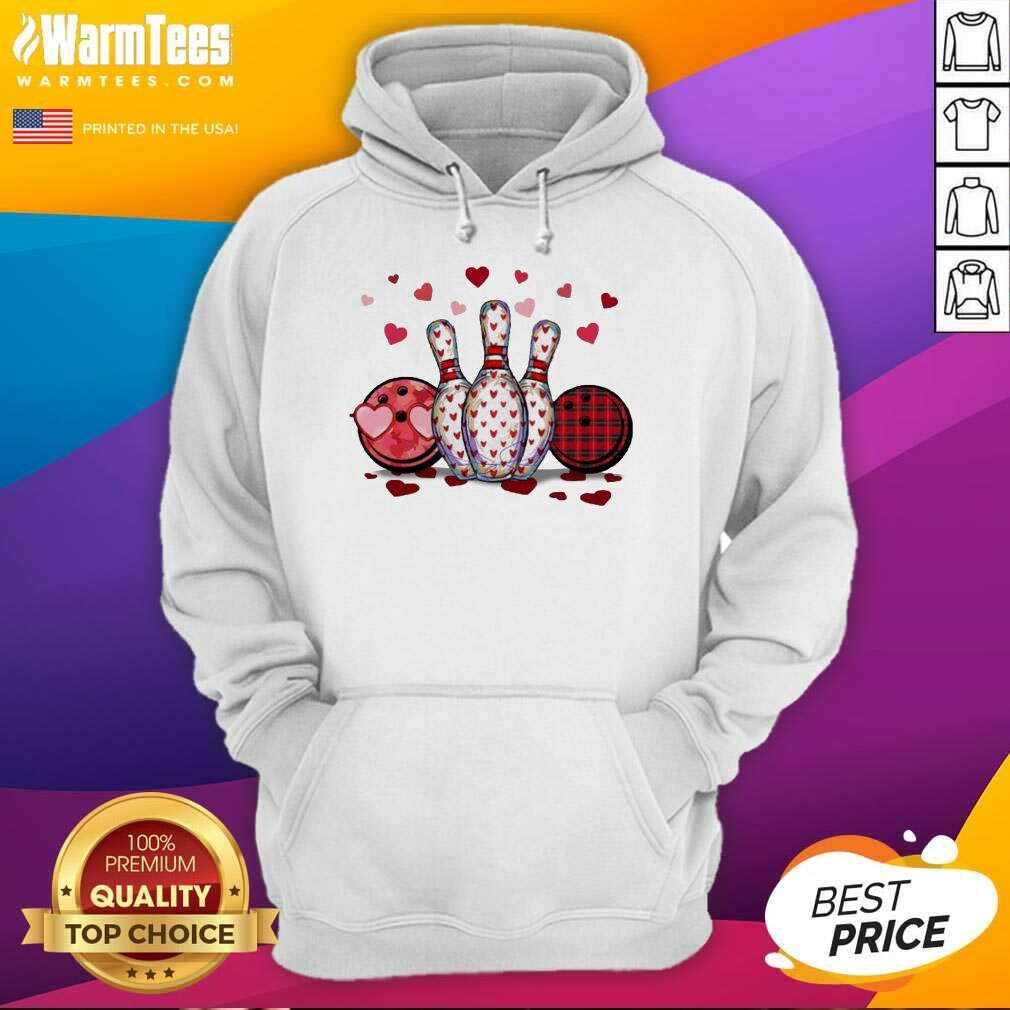 Bowling Hearts Valentine's Hoodie