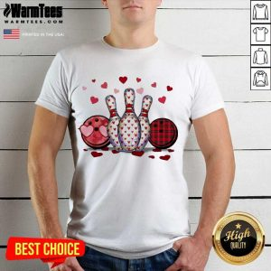 Bowling Hearts Valentine's Shirt