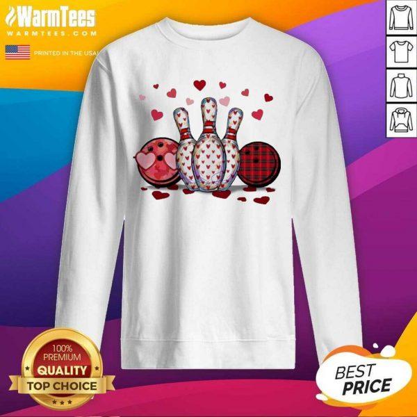 Bowling Hearts Valentine's SweatShirt
