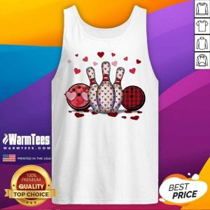 Bowling Hearts Valentine's Tank Top