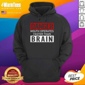 Danger Mouth Operates Faster Than Brain Hoodie - Design By Warmtees.com