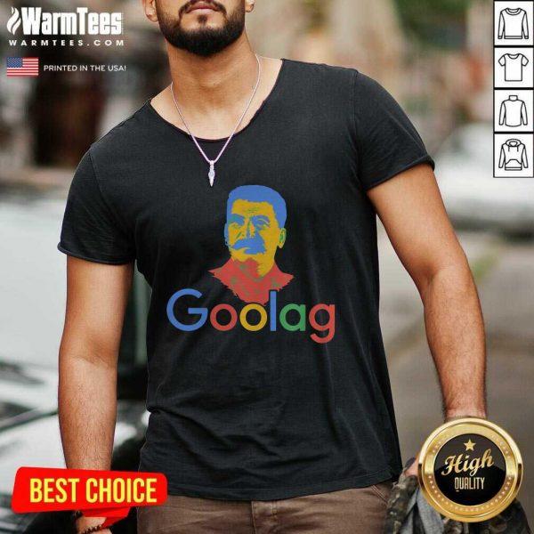 Goolag Stalin Gulag Meme Political Dark Humor V-neck - Design By Warmtees.com