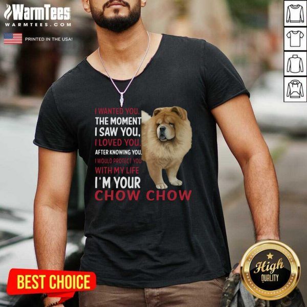 I Wanted You The Moment I Saw You I Loved You After Knowing Chow Chow V-neck - Design By Warmtees.com