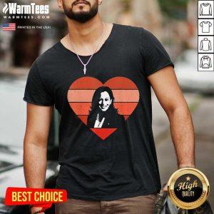 Kamala Harris Inauguration Day 2021 Saint Valentine Heart V-neck