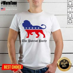Lions The Patriot Party American Shirt