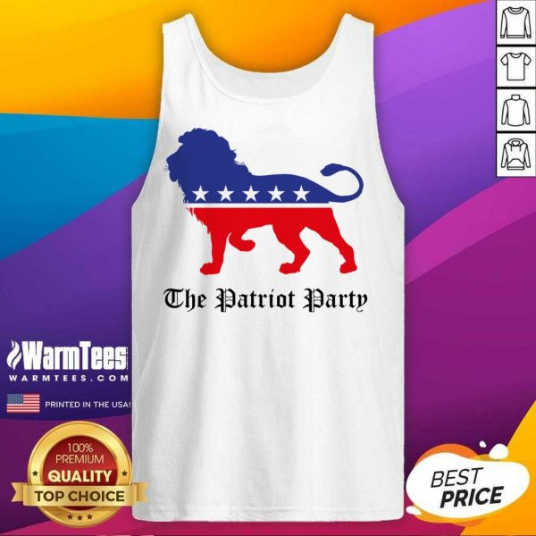 Lions The Patriot Party American Tank Top
