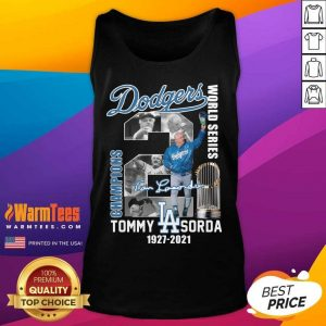 Los Angeles Dodgers World Series Champions Tommy Sorda 1927 2021 Signature Tank Top