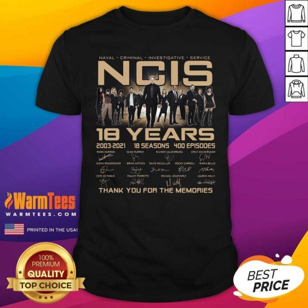 Naval Criminal Ncis 18 Years Signatures Thank You For The Memories Shirt - Design By Warmtees.com