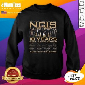 Naval Criminal Ncis 18 Years Signatures Thank You For The Memories SweatShirt - Design By Warmtees.com