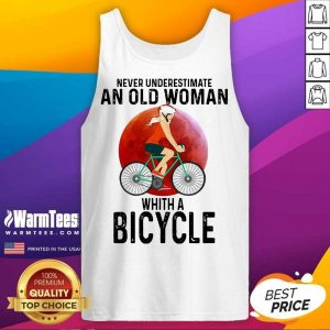 Never Underestimate An Old Woman With A Bicycle Tank Top