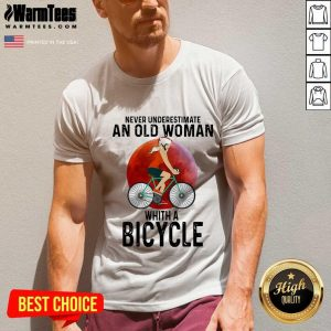 Never Underestimate An Old Woman With A Bicycle V-neck
