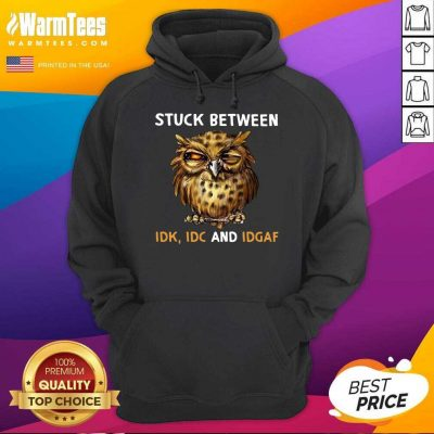 Owl Stuck Between Idk Idc And Idgaf Hoodie
