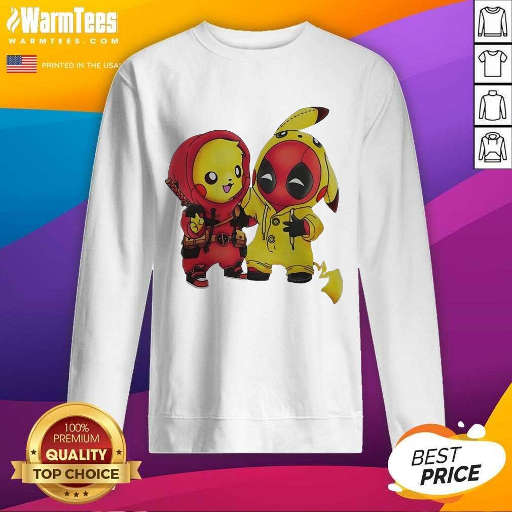 Pikapool Pikachu Pokemon And Deadpool 2021 SweatShirt