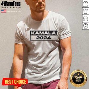 Pro Kamala – I Love Kamala Harris 2024 V-neck - Design By Warmtees.com