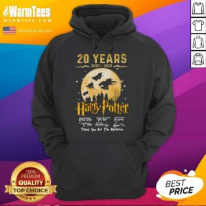 20 Years 2001 2021 Of Harry Potter Signature Thank You For The Memories Hoodie