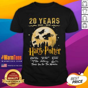 20 Years 2001 2021 Of Harry Potter Signature Thank You For The Memories Shirt