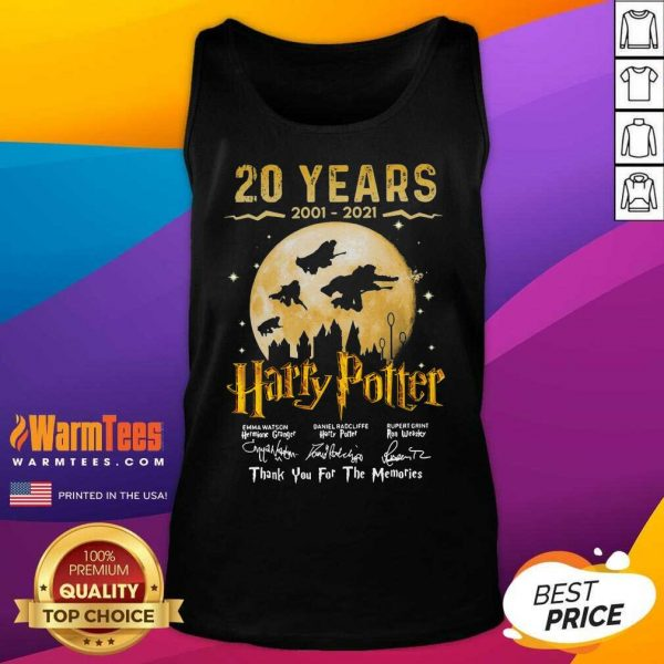 20 Years 2001 2021 Of Harry Potter Signature Thank You For The Memories Tank Top