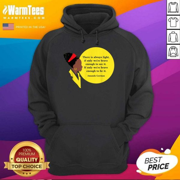 Amanda Gorman Vintage Retro There Is Always Light Poem Classic Hoodie