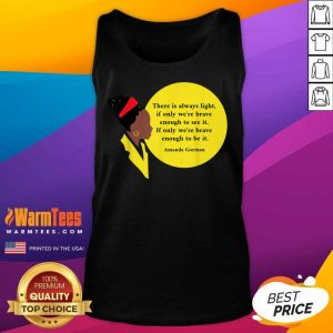 Amanda Gorman Vintage Retro There Is Always Light Poem Classic Tank Top