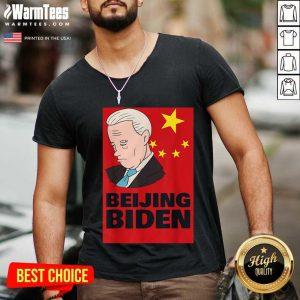 Beijing Biden Anti Joe Biden President Anti Biden 2021 V-neck