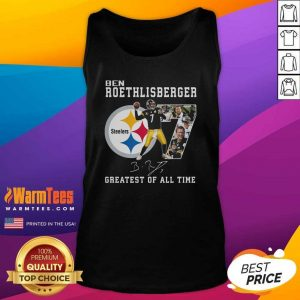Ben Roethlisberger Signature Greatest Of All Time Steelers Tank Top - Design By Warmtees.com