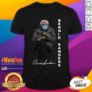 Bernie Sanders Sitting Inauguration Meme Mittens Signature Shirt