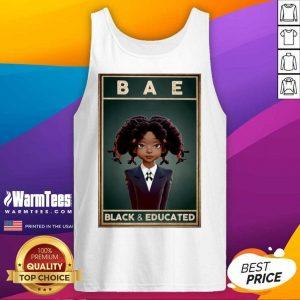 Black Girl Bae Black And Educated Tank Top