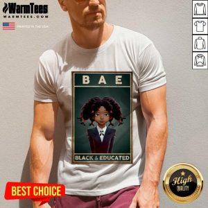 Black Girl Bae Black And Educated V-neck