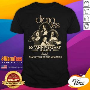 Diana Ross 65th Anniversary Thank You For The Memories Signature Shirt
