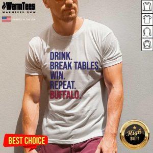 Drink Break Tables Win Repeat Buffalo V-neck