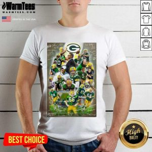 Green Bay Packers Team Football Players 2021 Signatures Shirt