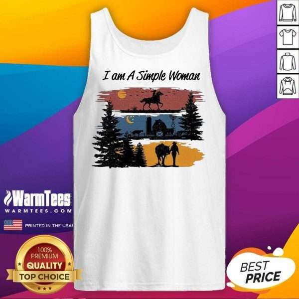 I Am A Simple Woman Horse Tank Top