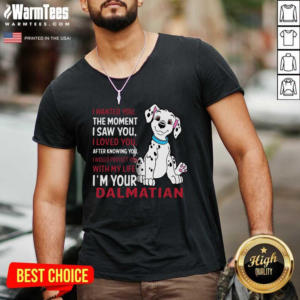 I Wanted You The Moment I Saw You I Loved You After Knowing Dalmatian V-neck  - Design By Warmtees.com