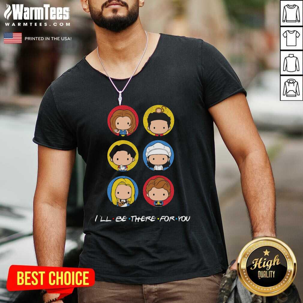 I'll Be There For You Cute Icon V-neck  - Design By Warmtees.com