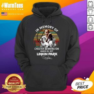 In Memory Of Chester Bennington March 20 2017 Linkin Park Signature Vintage Hoodie - Design By Warmtees.com